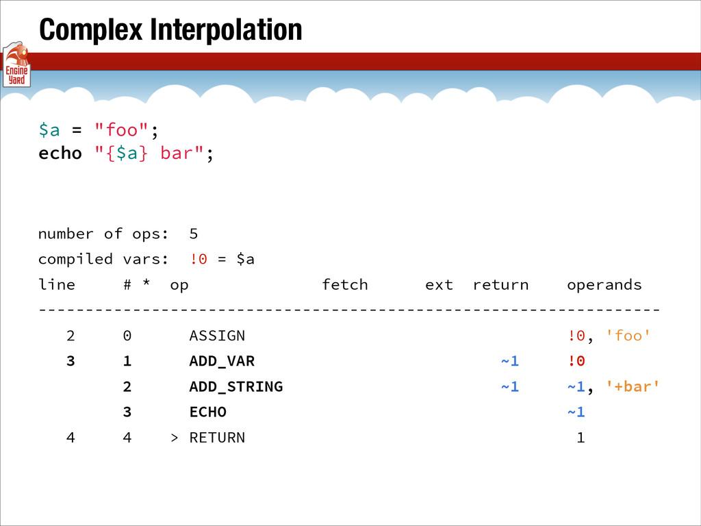 """Complex Interpolation $a = """"foo""""; echo """"{$a} ba..."""
