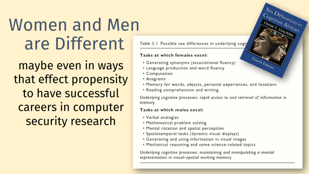 Women and Men are Different 9 maybe even in way...