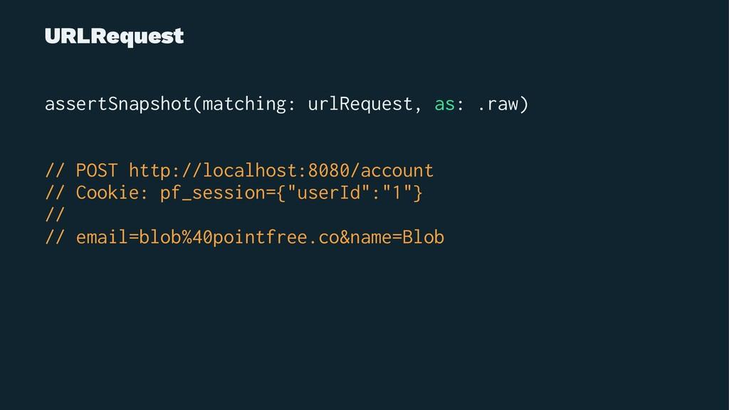 URLRequest assertSnapshot(matching: urlRequest,...