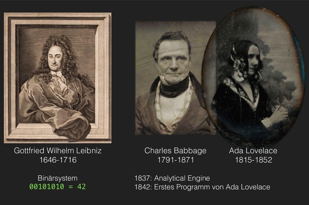 Charles Babbage 1791-1871 Gottfried Wilhelm Lei...