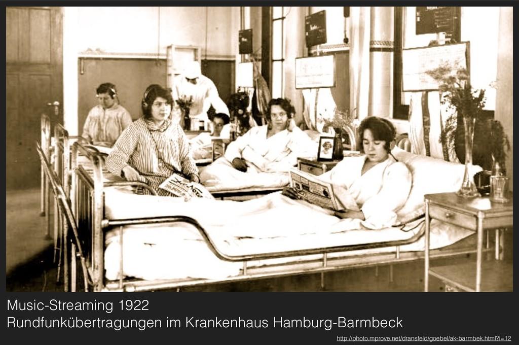 Music-Streaming 1922 Rundfunkübertragungen im ...