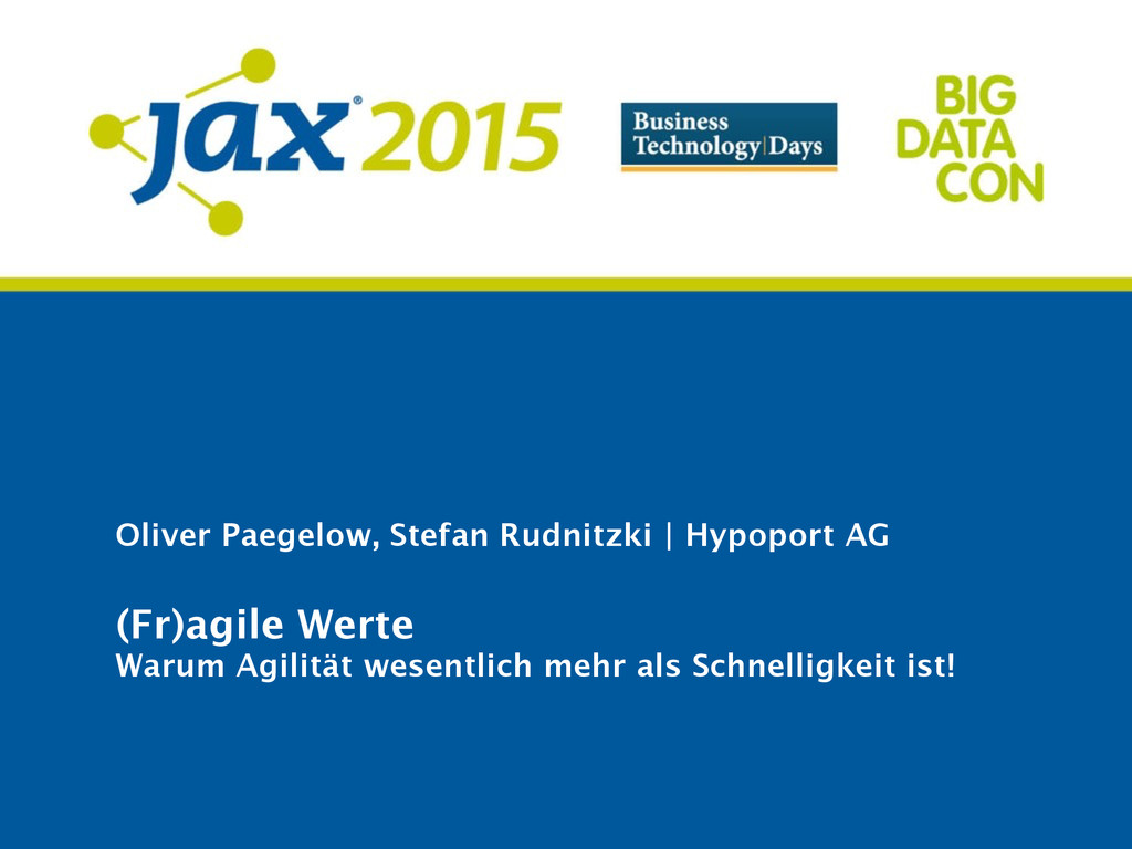 Oliver Paegelow, Stefan Rudnitzki | Hypoport AG...