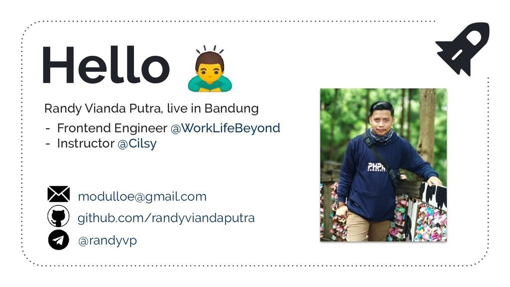 Randy Vianda Putra, live in Bandung - Frontend ...