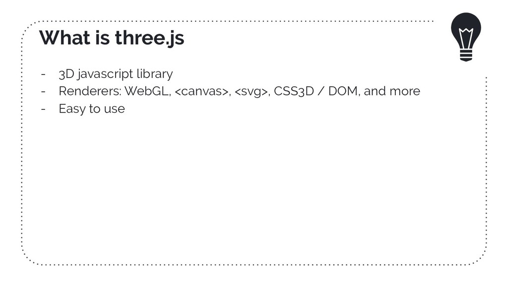What is three.js - 3D javascript library - Rend...