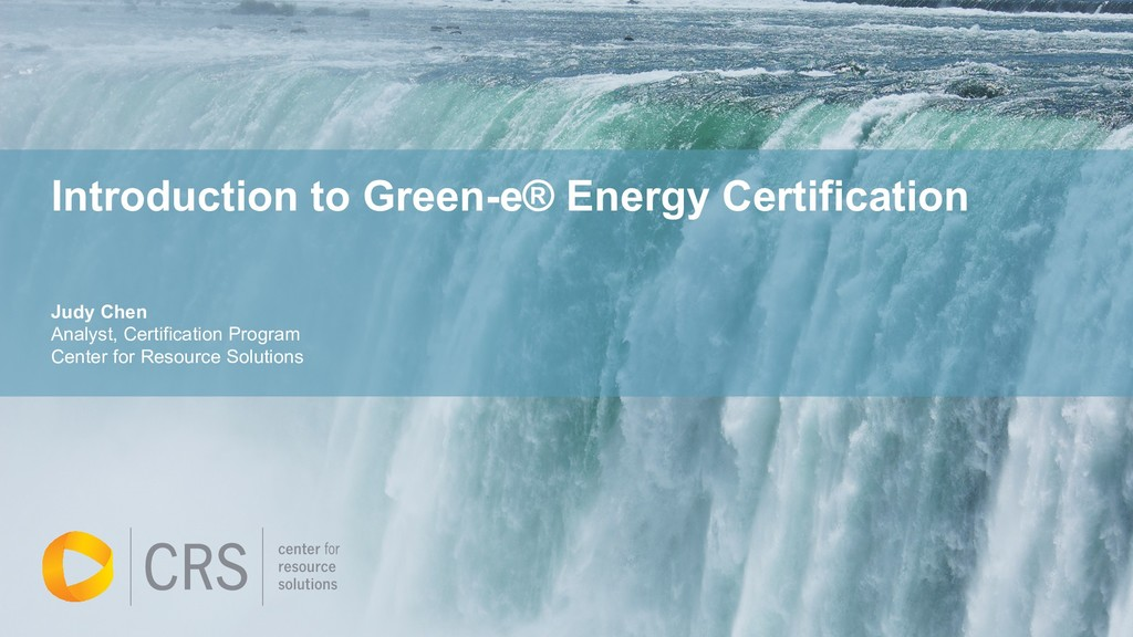 Introduction to Green-e® Energy Certification J...