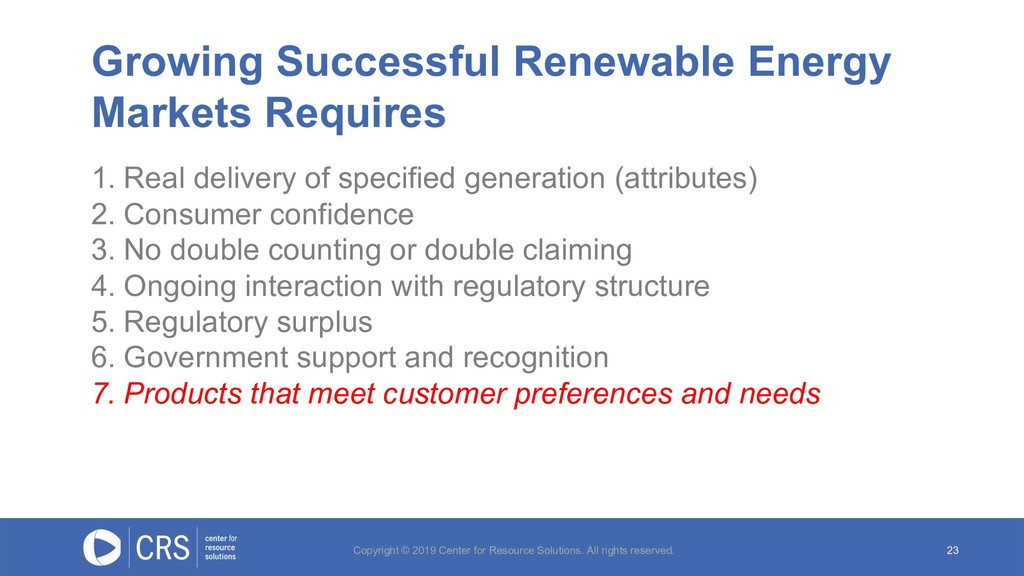 Growing Successful Renewable Energy Markets Req...