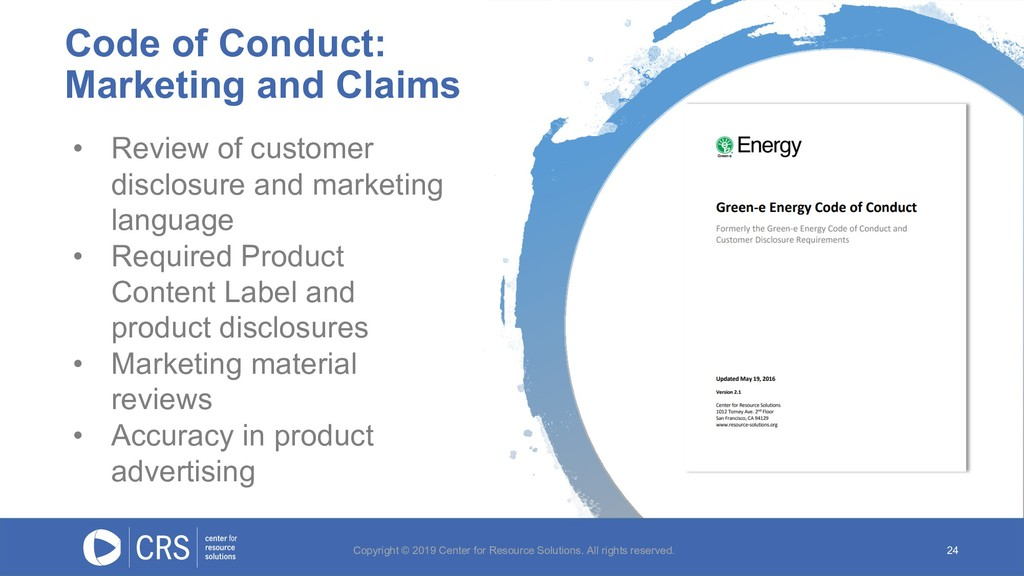 Code of Conduct: Marketing and Claims 24 • Revi...