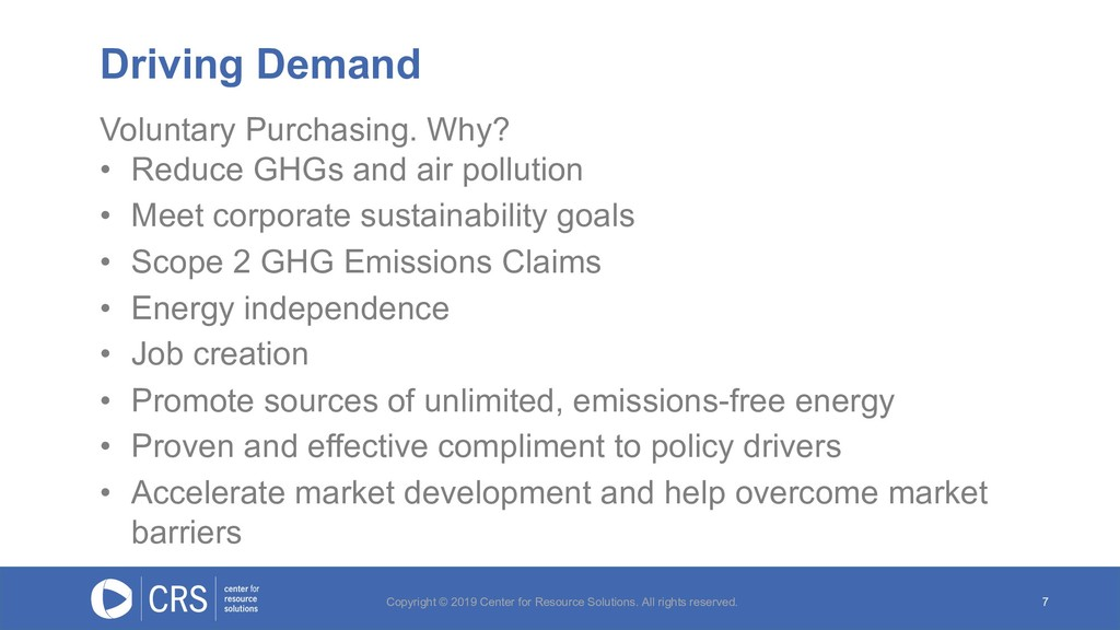 Voluntary Purchasing. Why? • Reduce GHGs and ai...