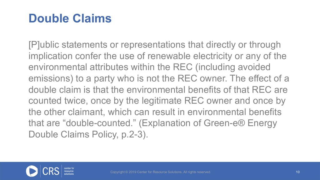 Double Claims 10 [P]ublic statements or represe...