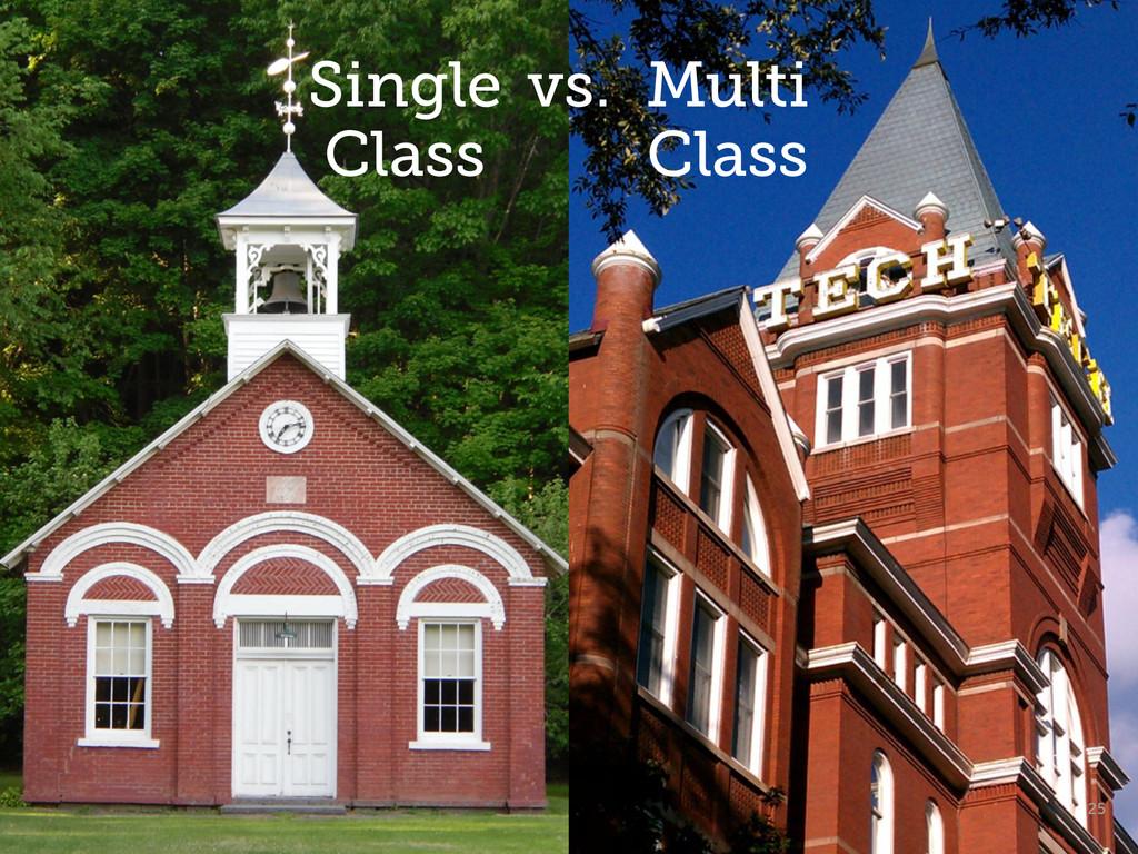 25 Single Class vs. Multi Class