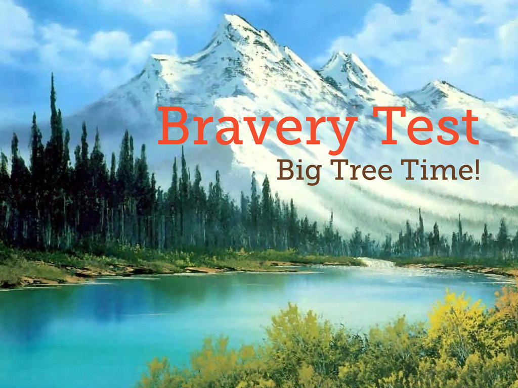 35 Bravery Test Big Tree Time!