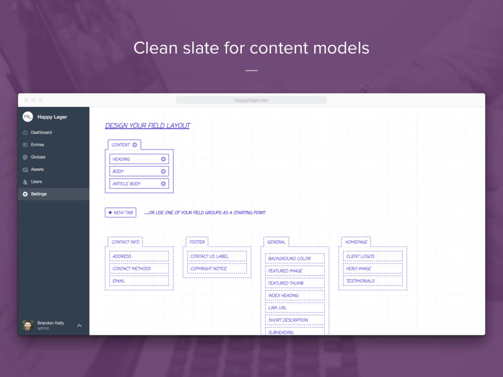 Clean slate for content models