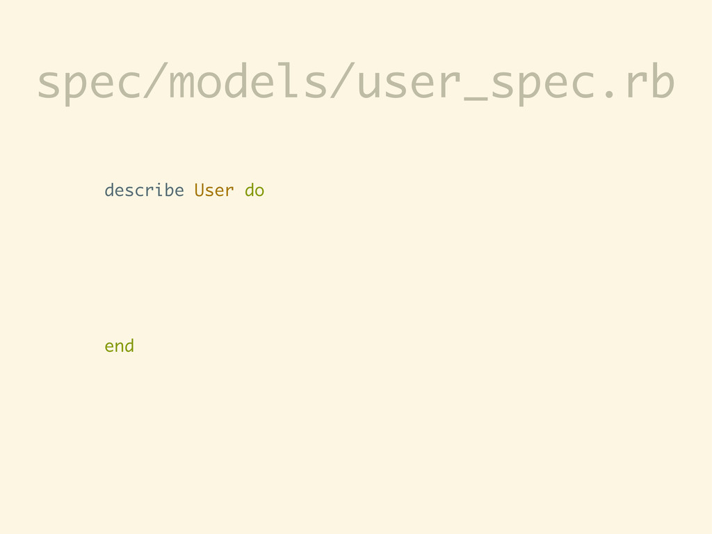 describe User do end spec/models/user_spec.rb