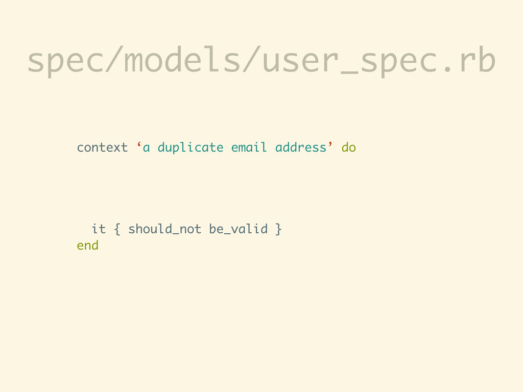 spec/models/user_spec.rb context 'a duplicate e...