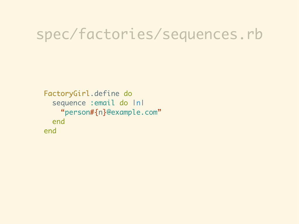 "FactoryGirl.define do sequence :email do |n| ""p..."