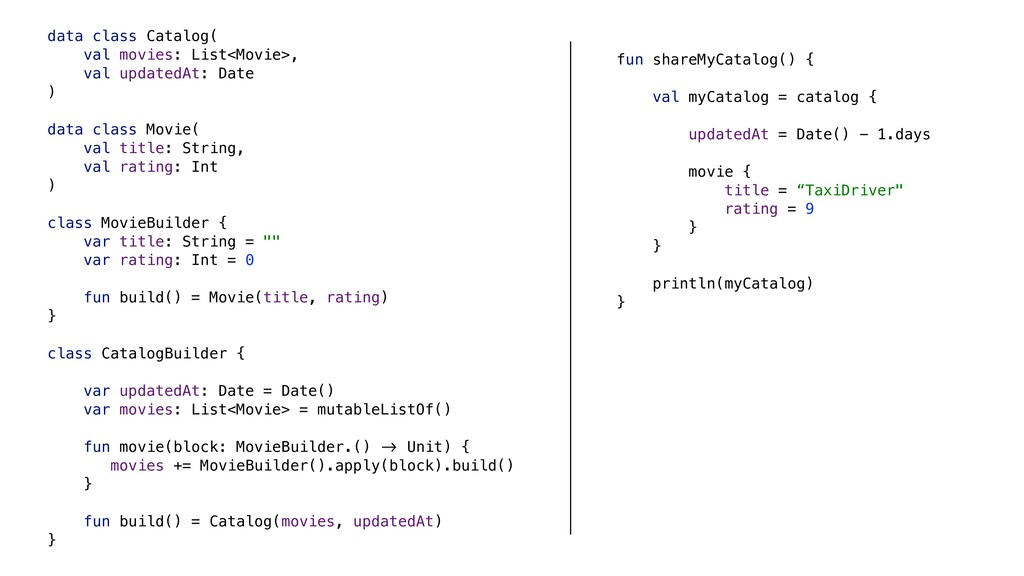 fun shareMyCatalog() { val myCatalog = catalog ...