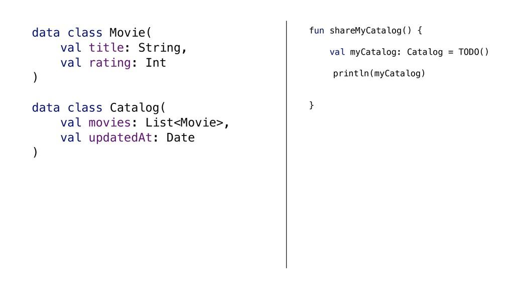 fun shareMyCatalog() { val myCatalog: Catalog =...