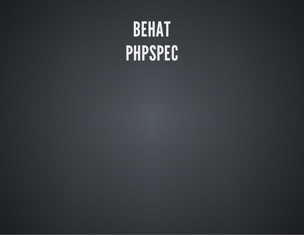 BEHAT PHPSPEC