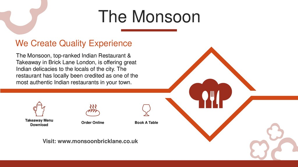 The Monsoon Takeaway Menu Download Order Online...