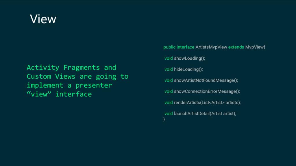 public interface ArtistsMvpView extends MvpView...