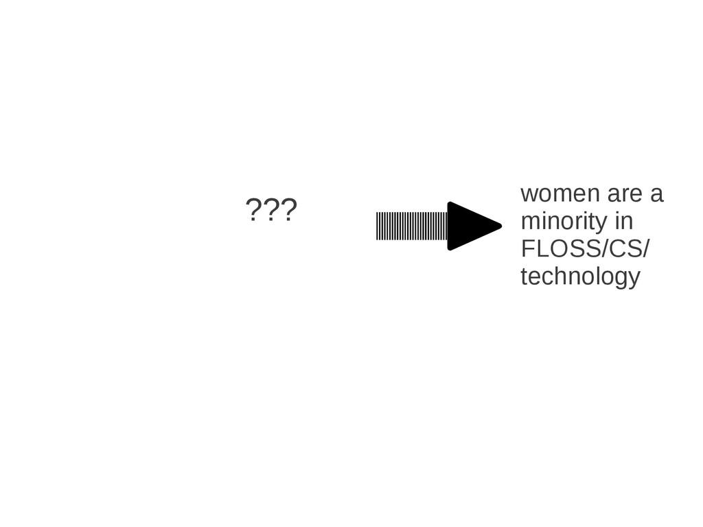 women are a minority in FLOSS/CS/ technology ???
