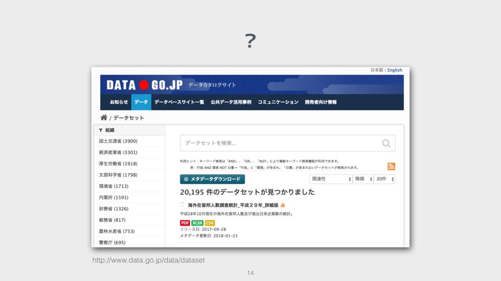 ? 14 http://www.data.go.jp/data/dataset