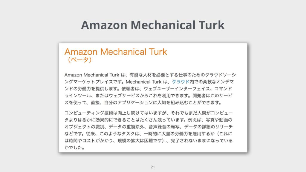 Amazon Mechanical Turk 21