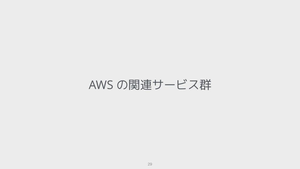 AWS の関連サービス群 29