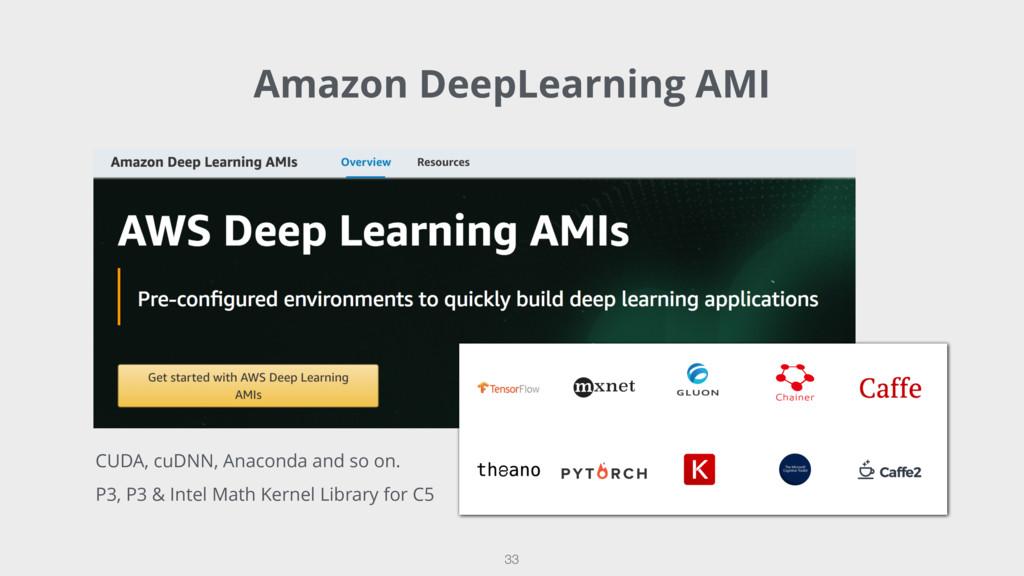 Amazon DeepLearning AMI 33 CUDA, cuDNN, Anacond...