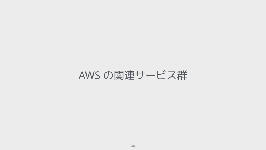 AWS の関連サービス群 36