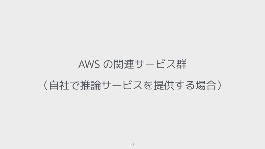 AWS の関連サービス群 (自社で推論サービスを提供する場合) 48