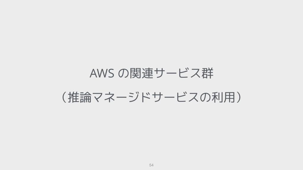AWS の関連サービス群 (推論マネージドサービスの利用) 54