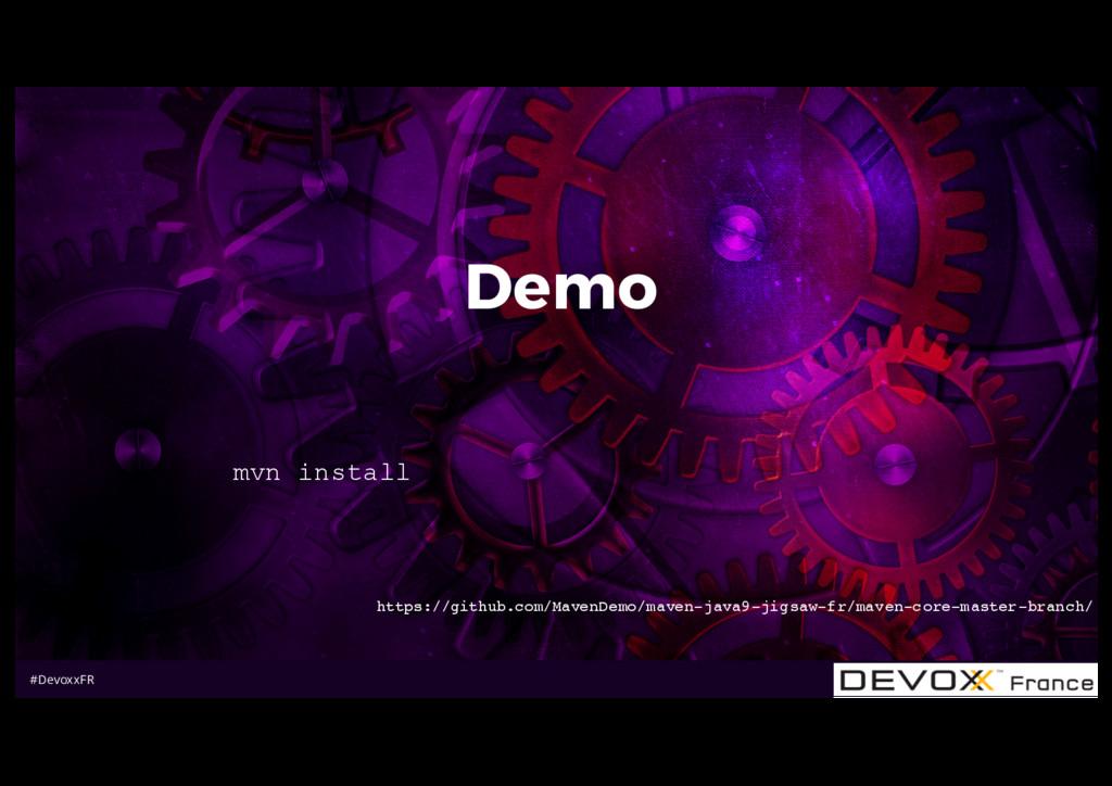 #DevoxxFR Demo mvn install https://github.com/M...