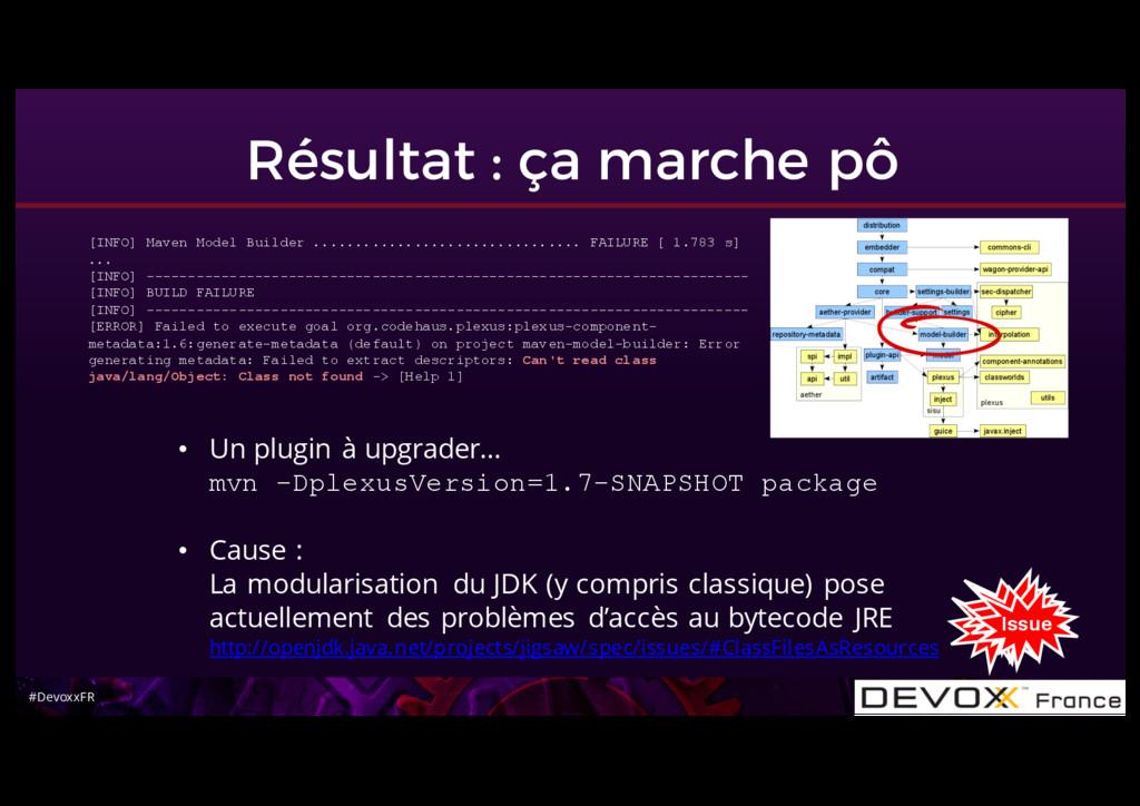 #DevoxxFR Résultat : ça marche pô • Un plugin à...