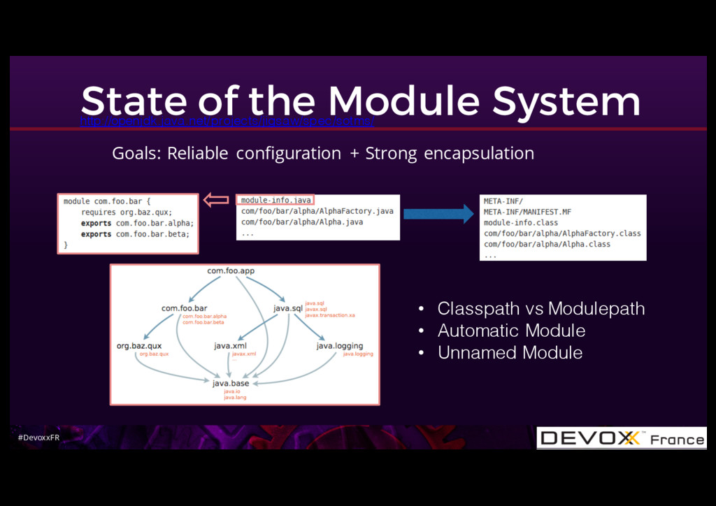 #DevoxxFR State of the Module System Goals: Rel...