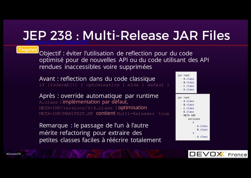 #DevoxxFR JEP 238 : Multi-Release JAR Files htt...
