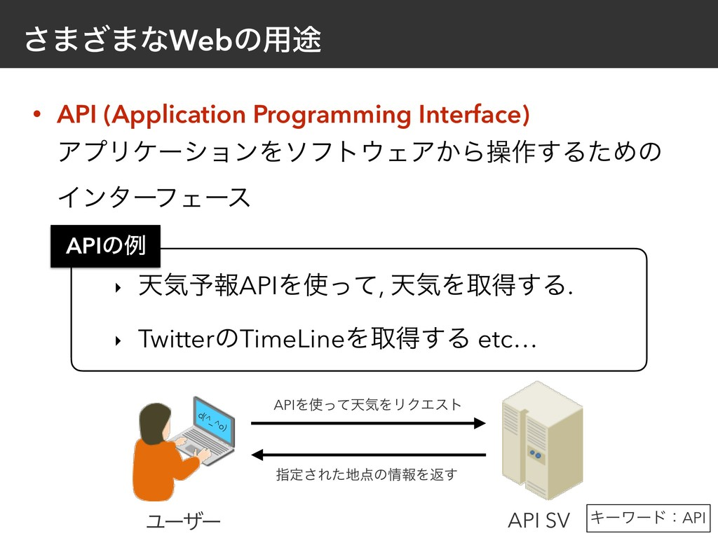 • API (Application Programming Interface)
