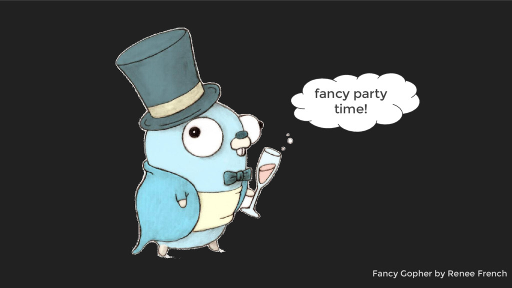fancy party time! Fancy Gopher by Renee French