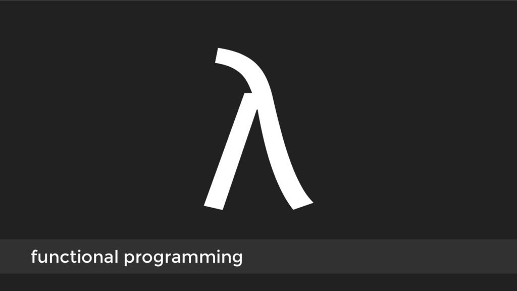 λ functional programming