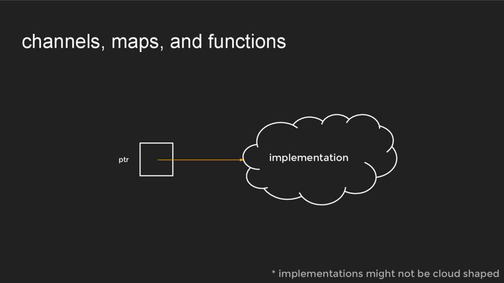 channels, maps, and functions ptr implementatio...