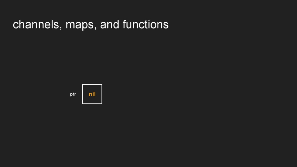 channels, maps, and functions ptr nil