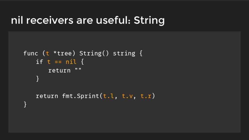 func (t *tree) String() string { if t == nil { ...
