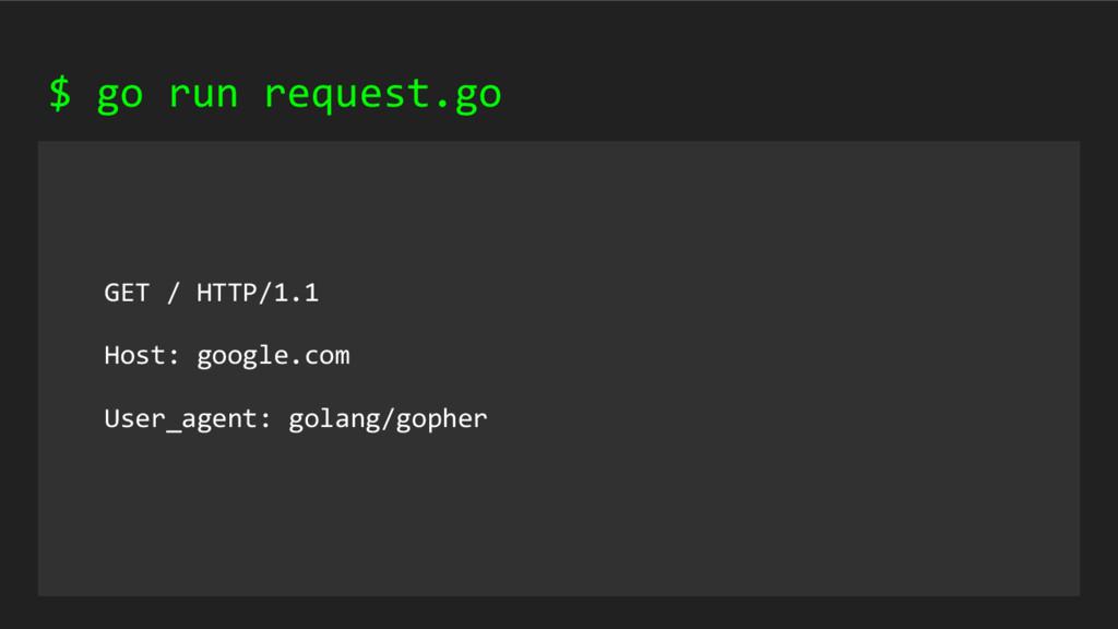 GET / HTTP/1.1 Host: google.com User_agent: gol...