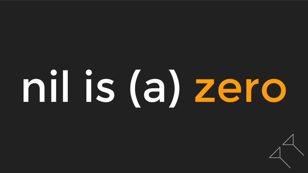nil is (a) zero