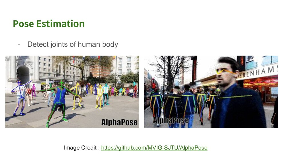 Use case 1 of Pose Estimation ● Detection of hu...