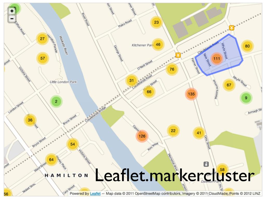 Leaflet.markercluster