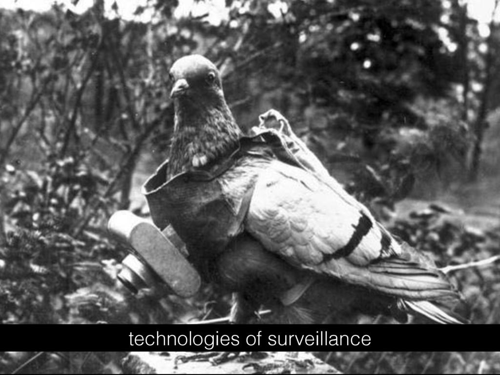technologies of surveillance