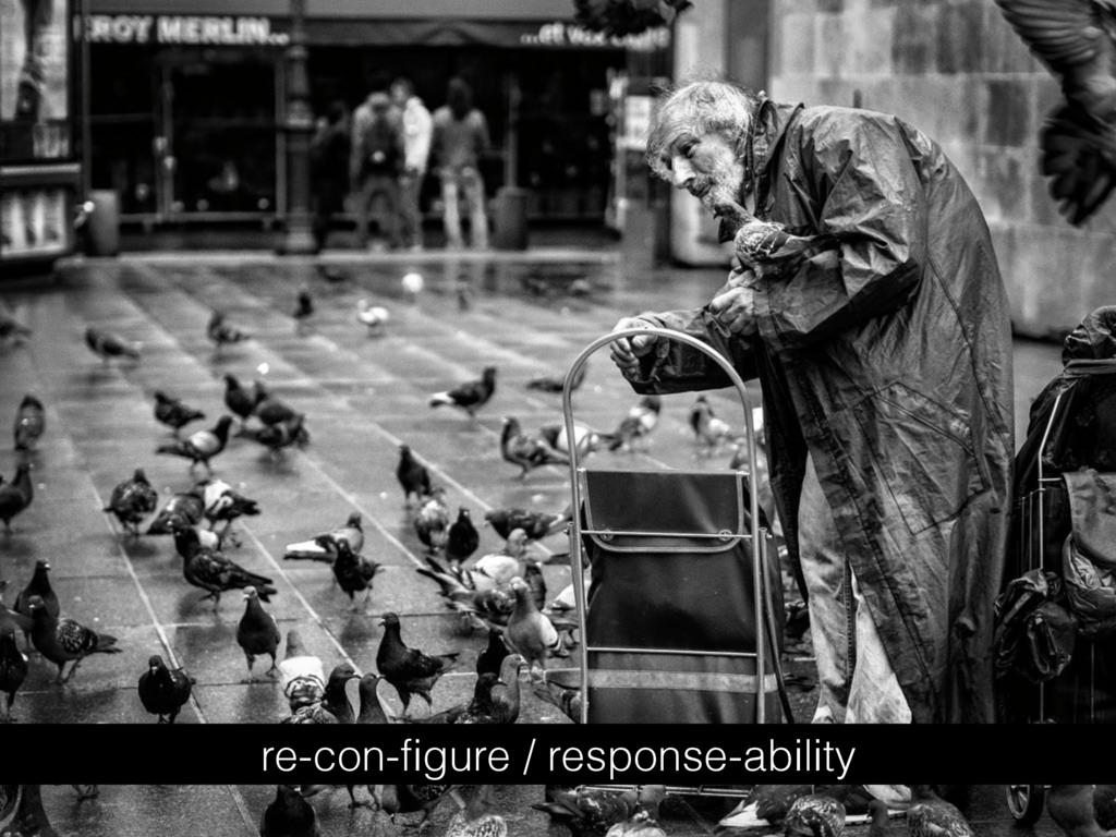 re-con-figure / response-ability