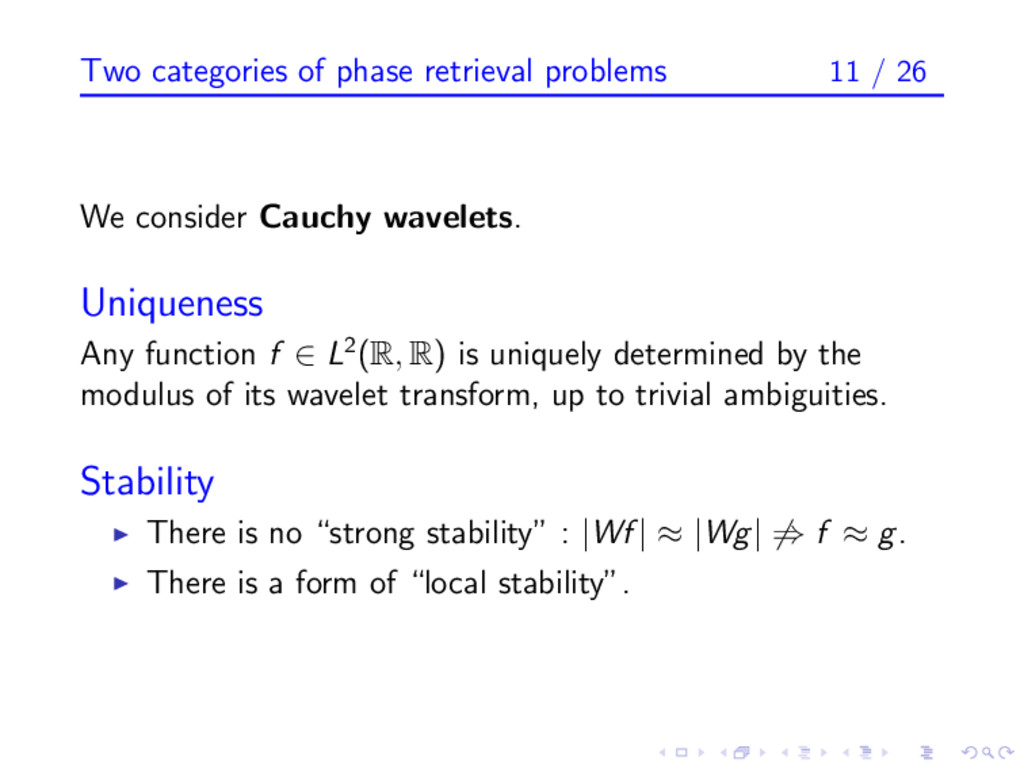 Two categories of phase retrieval problems 11 /...