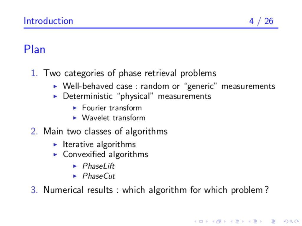 Introduction 4 / 26 Plan 1. Two categories of p...